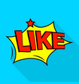 like icon pop art style vector image