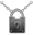 Lock on chain vector image