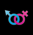 male and female symbolsymbol of gender identity vector image vector image