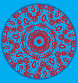 mandala inspired pattern doodle drawing round vector image