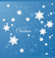 merry christmas greeting paper snowflakes vector image vector image
