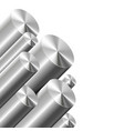 metal cylinders on white vector image vector image