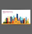 monterrey city architecture silhouette vector image vector image