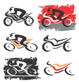 Motorbike Motorcycle icons vector image