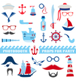 Nautical Party set - photobooth props vector image vector image