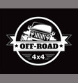 off-road 4x4 extreme car adventure club vector image