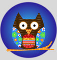 owl animal bird cartoon icon vector image vector image