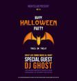 paper cut flyer with bat for halloween vector image vector image