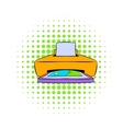 Photo printer icon comics style vector image vector image