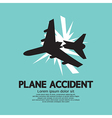 Plane Accident vector image vector image