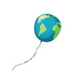 planet earth balloon vector image vector image