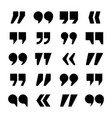 quotation marks collection quotes icon vector image