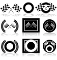 Racing icons vector image vector image
