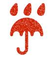 rain protection grunge icon vector image