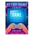 retro gaming game 80s-90s retro arcade game vector image vector image