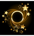 round banner with stars vector image vector image