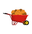 santa claus wheelbarrow and cookies xmas cookie vector image