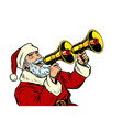 santa claus with a megaphone christmas sale vector image