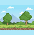 seamless cartoon landscape parallax nature vector image