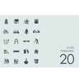 Set of pensioners icons vector image
