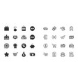 set of shopping e-commerce and business icons vector image vector image