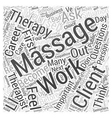 Should you become a Massage Therapist questions to vector image vector image