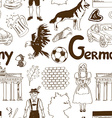 Sketch Germany seamless pattern vector image vector image