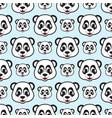 smile panda seamless pattern vector image vector image