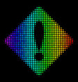 spectral colored dot error icon vector image vector image