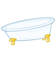 standing bathtub vector image