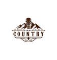 texas mountain country guitar music western vector image vector image