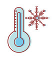 thermometer measure instrument to know the vector image vector image