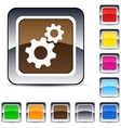 Tools square button vector image vector image