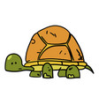 turtle hand drawn cartoon vector image