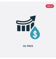 two color oil price icon from industry concept vector image