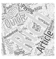 Unlimited earning potential Word Cloud Concept vector image vector image