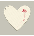Valentine paper hearts vector image