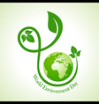world environment day greeting design vector image vector image