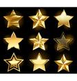 set of gold stars vector image