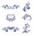 Abstract Floral Decorative Element vector image vector image