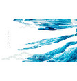 abstract landscape art with brush stroke vector image vector image