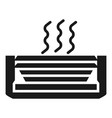 Air conditioning top view icon simple style