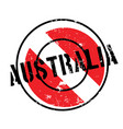 australia rubber stamp vector image vector image