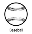 Baseball icon simple black style vector image