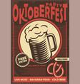 beer fest promotional poster design vector image
