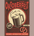 beer fest promotional poster design vector image vector image