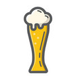 beer glass filled outline icon food and drink vector image vector image