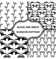 black-and-white abstract pattern vector image vector image