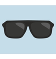 Black hipster sunglasses vector image vector image