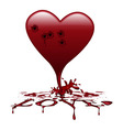 bleeding heart vector image vector image
